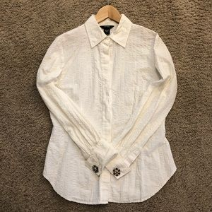 Sparkly White Buttondown w/ Cufflinks